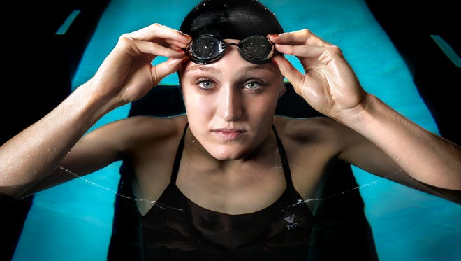 U of L national champion swimmer and Olympic hopeful Kelsi Worrell set the NCAA American record in the 100 butterfly event with a time of 49.87 seconds in 2015. June 14, 2016