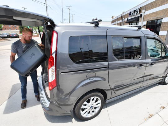 The full-sizevanis popular among commercial buyers for its versatility and easily customized cargo space. (Daniel Mears / The Detroit News)