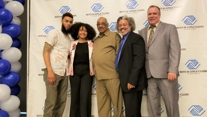 Fradely Delacruz, a member of the Boys and Girls Club of Vineland, was recently named the New Jersey Youth of the Year by Boys & Girls Clubs of America. (From left) Will Baumgardner, program specialist, Boys and Girls Club of Vineland; Delacruz; Claude Rozier, club operations manager, BGCV; Michael Morton, board president, BGCV; and Chris Volker, executive director, BGCV; celebrate Delacruz's honor.