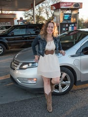 Melissa Potter visits the gas station every other month to fill up the 9-gallon gas tank.