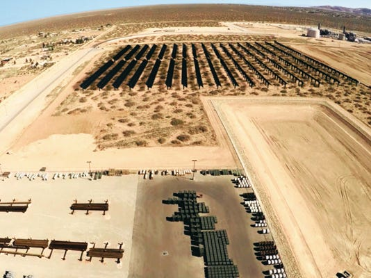 This is an illustration of what the proposed 6.7 million community solar plant would look like at the site of the Montana Power Station in far East El Paso County.