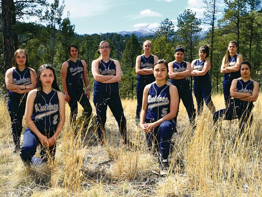 The Ruidoso Lady Warriors softball team meets West Las Vegas in the first round of state tournament action.