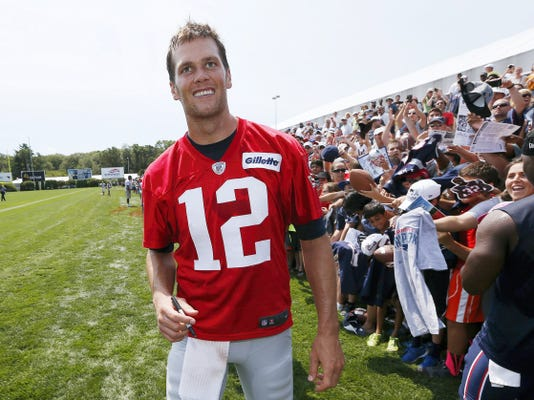 New England Patriots quarterback Tom Brady continues to deny any guilt in 'Deflatefate.