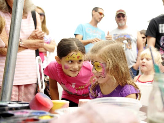 The 39th annual Red Lion Street Fair includes a number of kids' activities at no cost, including face painting. The Saturday event features music in Red Lion's square and crafts, vendors and activities on the surrounding streets.