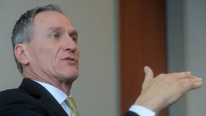 Gov. Dennis Daugaard speaks with Argus Leader Media this week.