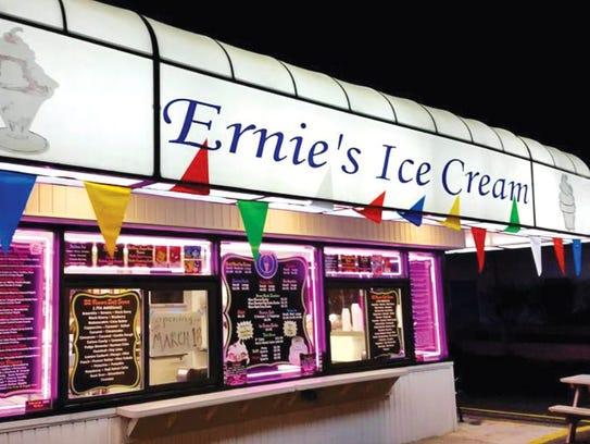 Ernie's Ice Cream.