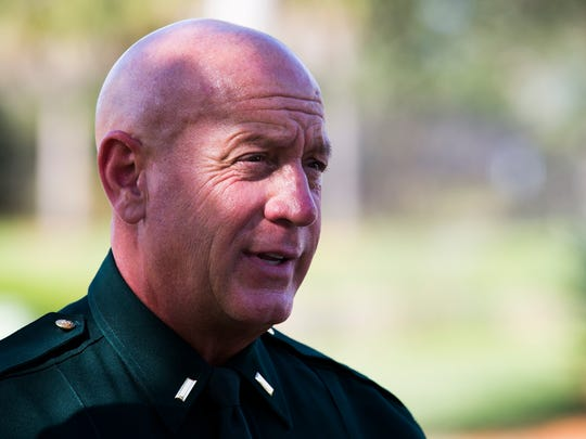 Lt. Jeff Dekas, from the Lee County Sheriff's Office, delivered a statement after police vehicles responded to an officer involved shooting incident on Via Coconut Point in Estero on Wednesday, Nov. 30, 2016.