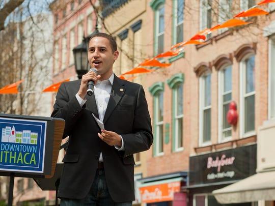 Ithaca Mayor Svante Myrick kicks off The Commons rebuild