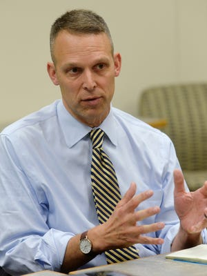 Rep. Scott Perry speaks with the York Daily Record/Sunday News editorial board on Wednesday, Oct. 15, 2014.