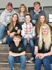 D&B Sternweis Farms are made up of the entire family. Pictured are (from left, top) Wisconsin dairy farmers Daryl and Brenda Sternweis, and their son Justin, 24; (middle) Brittney Sternweis, 17, Autumn Sternweis, 15, and Brooke Sternweis, 13; and (bottom) Jonathan Sternweis, 11, and Heather (Sternweis) Heiman, 26. Not pictured is Sternweises' son Aaron Sternweis, 22.