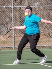 St. Phillip singles player Annie Newton in competition