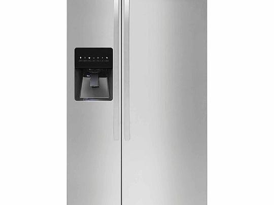 Kenmore 51793 21 cu. ft. Side-by-Side Refrigerator in Stainless, Black or White. Photo: Sears