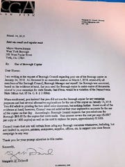 A photo of the letter West York's solicitor sent to