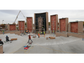 Construction continued Wednesday on the Virgin of Guadalupe