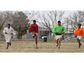 Tarahumara runner Isidro Quintero, second from left,