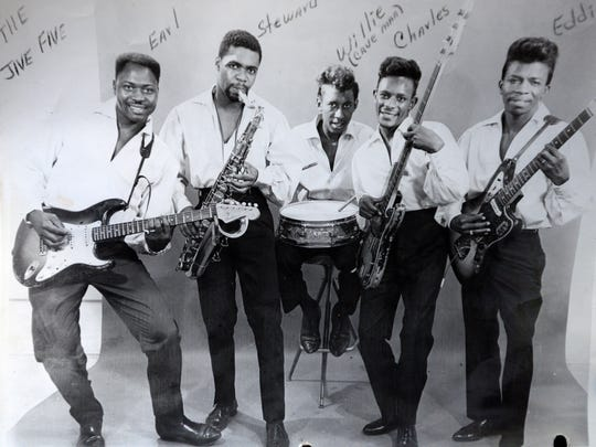 Eddie Giles (right) and his band from the 60's.