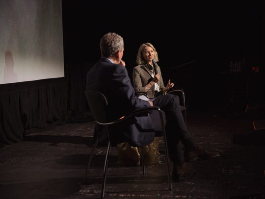 Bob Roth and Naomi Watts at the Festival of Disruption,
