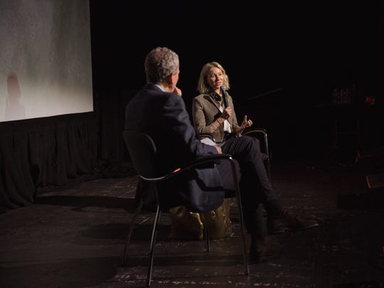 Bob Roth and Naomi Watts at the Festival of Disruption, May 20 at Brooklyn Steel in New York.