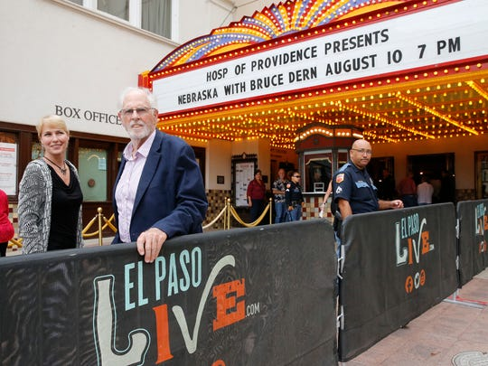 "Two-time Oscar nominated actor Bruce Dern stands outside the Plaza Theatre with El Paso Community Foundation Vice President of Donor Relations Kathrin Berg as they make their way into the theater Friday. Dern spoke to fans who went to watch ""Nebraska,"" which was released in 2013. He was nominated for an Oscar for his role. Dern has starred in over 100 films during his career. Dern had an autograph session Saturday at 11 a.m. and spoke before the screening of ""Coming Home,"" which he starred in with Jane Fonda and Jon Voight in 1978."