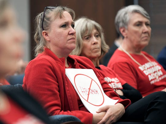 Moms Demand Action for Gun Sense in America volunteers attended a TN House Civil Justice Subcommittee hearing on Wed. Feb. 14, 2018.