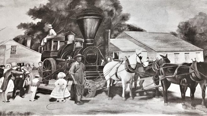 Georgia Railroad Bank unveiled this massive painting on this date in 1930.