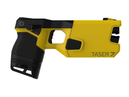 A model 7 Taser. The devices can render people immobile.