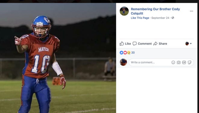 Friends of Cody Colquitt's family created a Facebook page and are raising funds after the Mayer High junior died in a car wreck on Sept. 22, 2017.