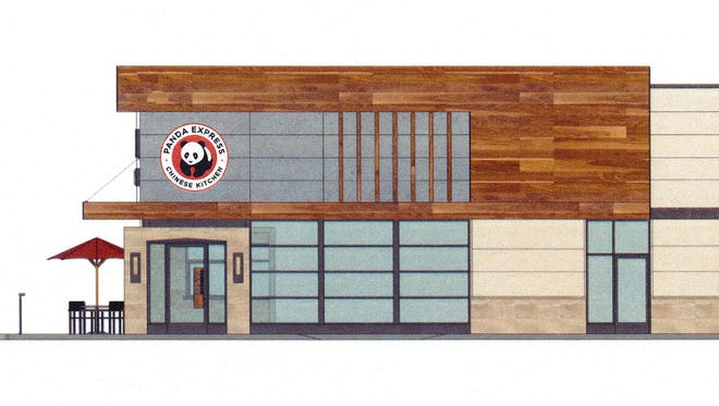 Renderings of the future Panda Express coming to Fort Gratiot on 24th Avenue just north of Golden Corral, 4783 24th Ave in a building yet to be built.