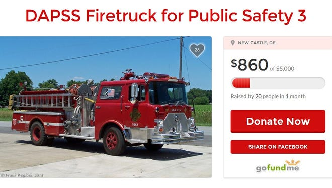 Delaware Academy of Public Safety and Security, New Castle-area charter high school, are trying to raise $5,000 to buy a fire truck.