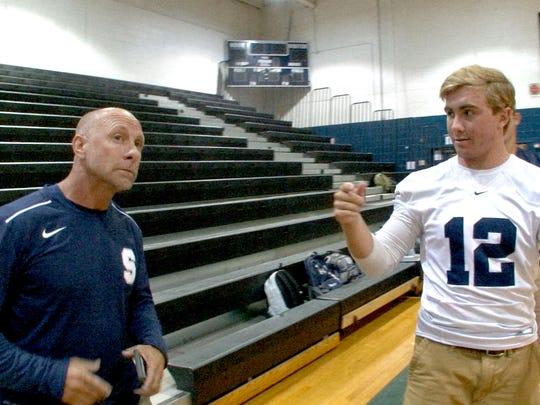 Middletown South coach Steve Antonucci and his son,