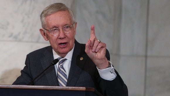 Former Senate Democratic Leader Harry Reid of Nevada.