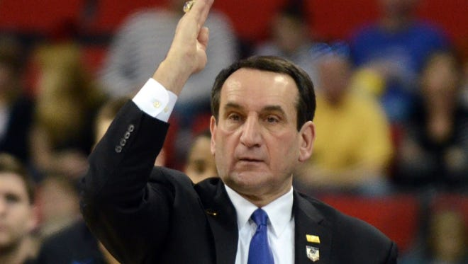 If a proposed excise tax on high-salaried college staff became law, Duke men's basketball coach Mike Krzyzewski might be looking at nearly $1.7 million in play.