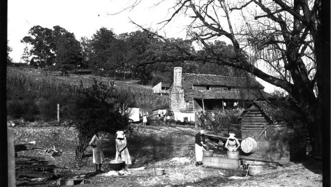 TVA/special to the news sentinel The Stooksberry Farm before the construction of Norris Dam. The Andersonville farm was flooded by the project.