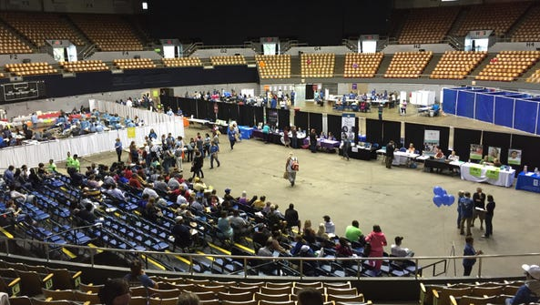 Medical Mission at the Municipal Auditorium in Nashville.