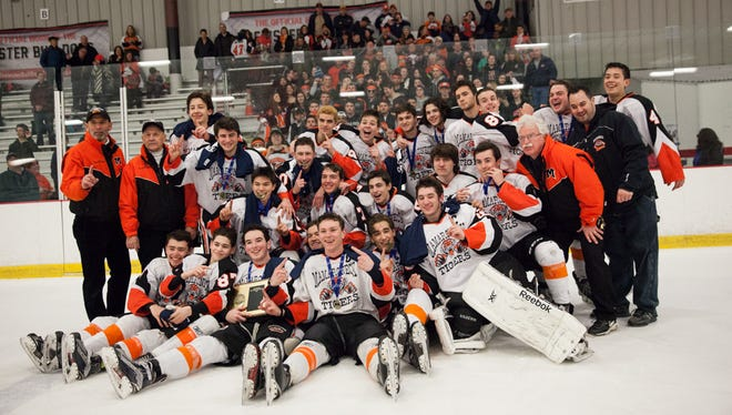 Mamaroneck takes the win against Suffern with a final score of 4-0 in the Section 1 Division I championship game at the Brewster Ice Arena in Brewster, February 26, 2017