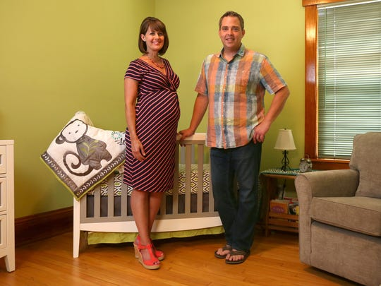 Michael and Erin Kiernan are expecting their first baby in October after spending years trying to get pregnant.
