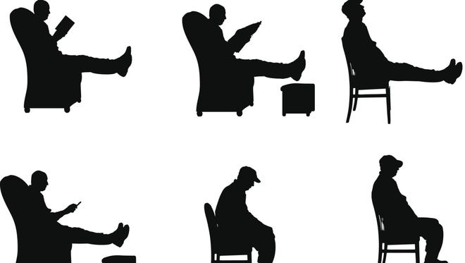 More than half of the average person's waking hours are spent sitting.