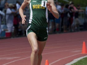 North Hunterdon's Eve Glasergreen set a meet record in the 1600 at the North 2 Group IV sectionals.
