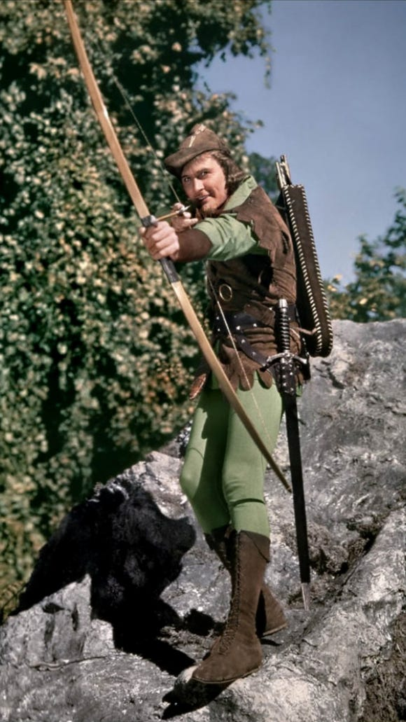 Errol Flynn as Robin Hood in the 1938 classic. The Goldwater Institute is like him...in reverse.