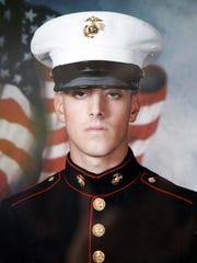 U.S. Marine Cpl. Steven Vahaviolos, 21, of Airmont
