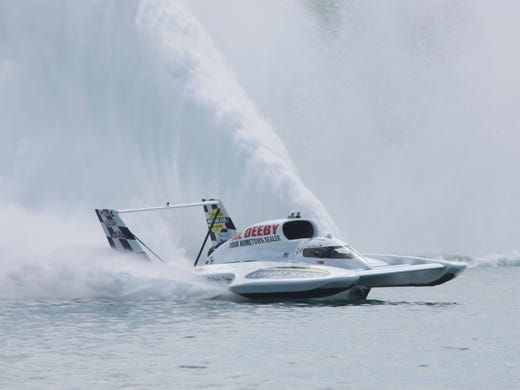 Hydroplanes: Jean Theoret races hard, accepts dangers of sport