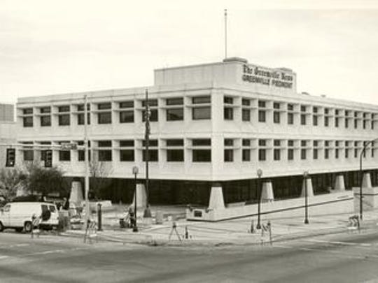 The former Greenville News and Greenville Piedmont building, which opened in 1969, was demolished in summer 2017.