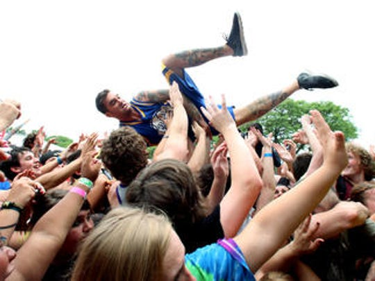 New Found Glory at the Vans Warped Tour on July 13, 2012 at the PNC Bank Arts Center in Holmdel.