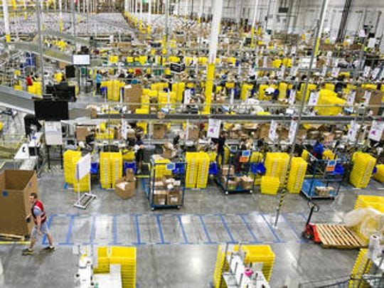 Workers at an Amazon warehouse in west Phoenix are voicing concerns about insufficient social distancing and facility cleaning at their place of work.
