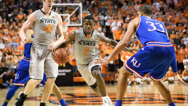 Greenville's Jawun Evans (1), who played two seasons at Oklahoma State, was drafted in the second round by the Philadelphia 76ers and traded to the Los Angeles Clippers.