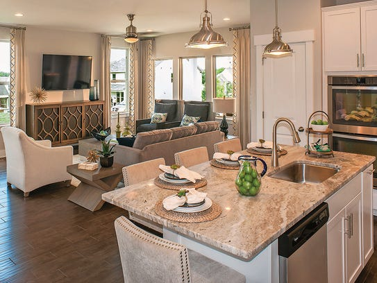 An open main living area creates a great space to entertain