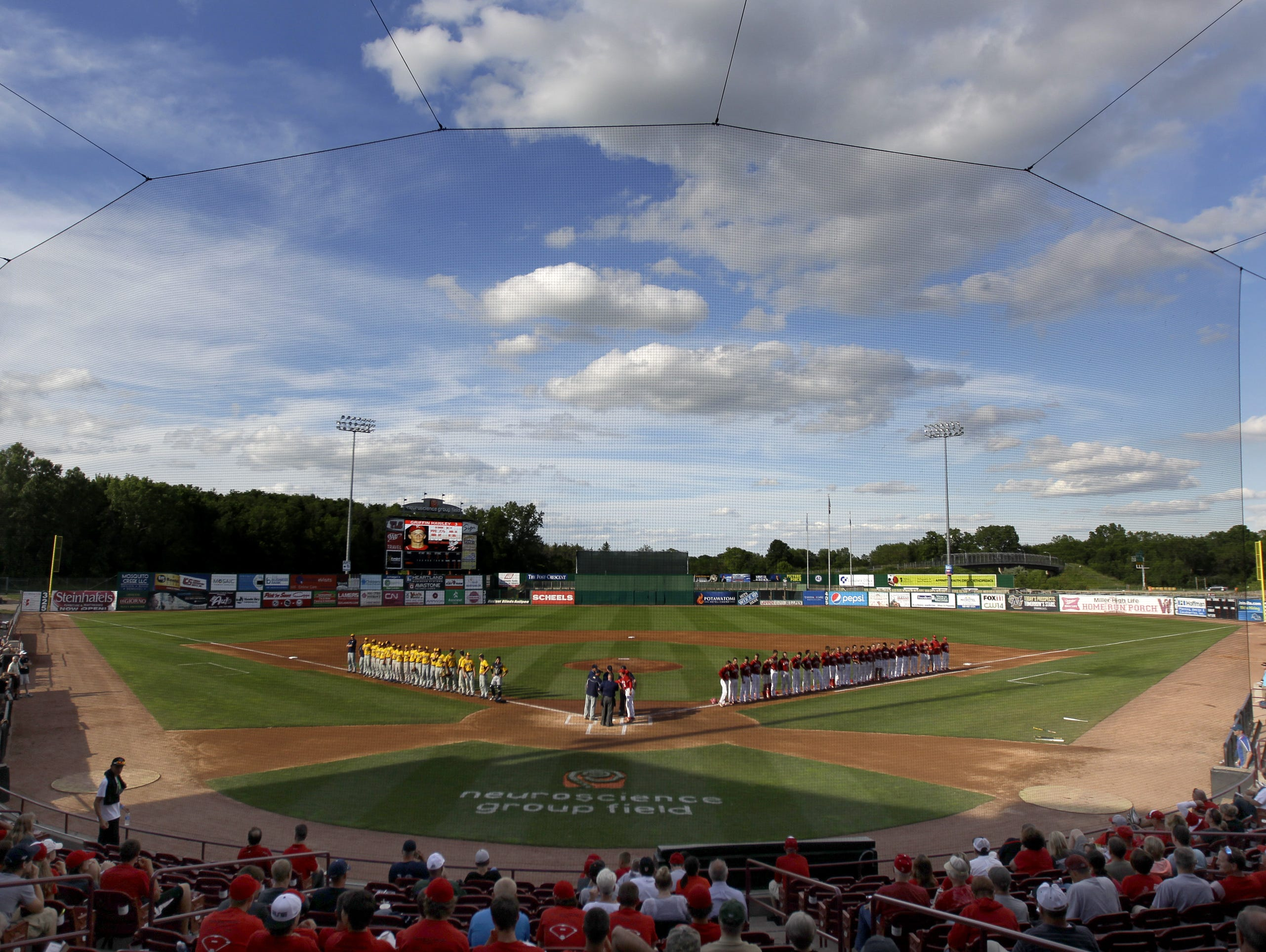 Neuroscience Group Field at Fox Cities Stadium in Grand Chute is the site of this year's WIAA state baseball tournament.