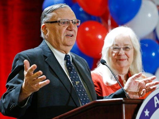 Sheriff Joe Arpaio with wife  Ava at one of his many victorious election nights.