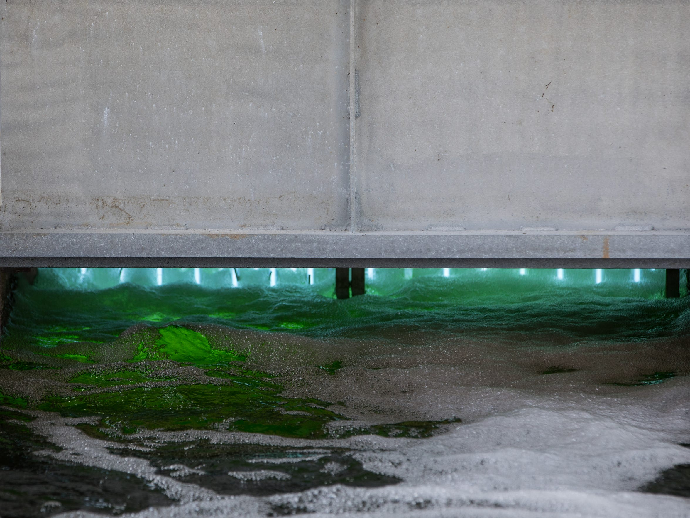 Greenwood Wastewater Treatment Plant's UV channels