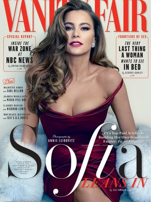 Actress Sofia Vergara on the cover of 'Vanity Fair'